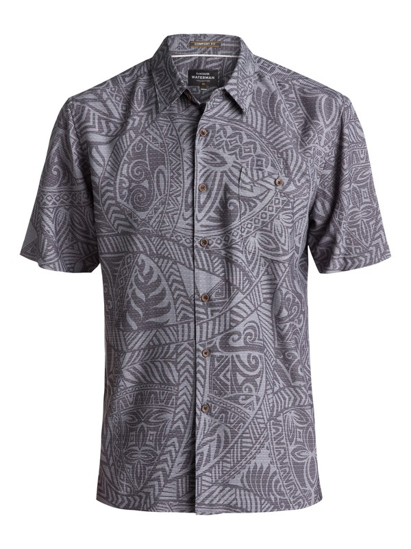 0 Waterman Tribal Dance Short Sleeve Shirt Black EQMWT03055 Quiksilver