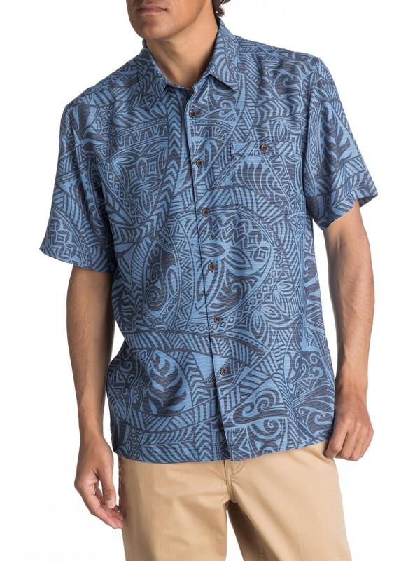 0 Waterman Tribal Dance Short Sleeve Shirt  EQMWT03055 Quiksilver