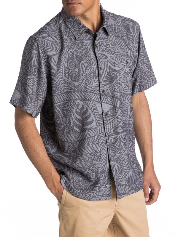 0 Waterman Tribal Dance Short Sleeve Shirt Black EQMWT03055 Quiksilver