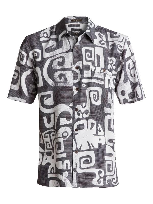 0 Waterman Olowalu Short Sleeve Shirt Black EQMWT03056 Quiksilver