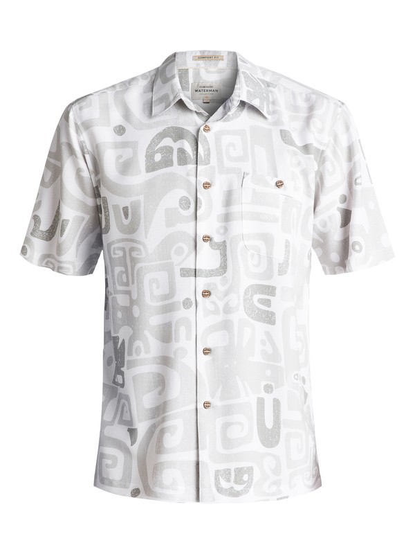 0 Waterman Olowalu Short Sleeve Shirt White EQMWT03056 Quiksilver