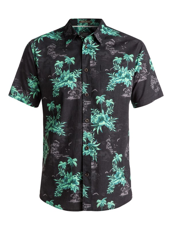 0 Waterman Vahinies Short Sleeve Shirt Black EQMWT03083 Quiksilver