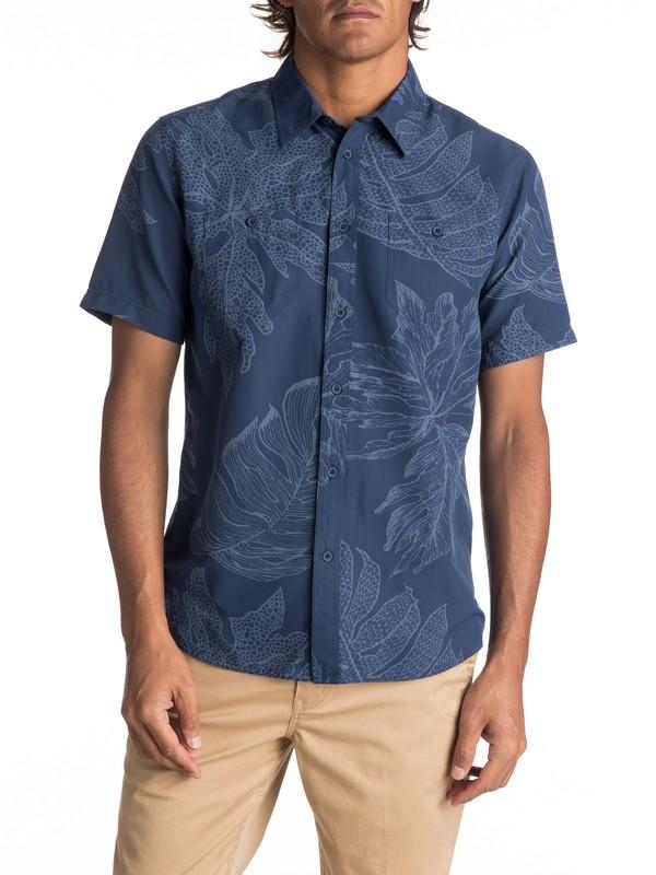 0 Waterman Wake XOA Technical Short Sleeve Shirt Blue EQMWT03096 Quiksilver