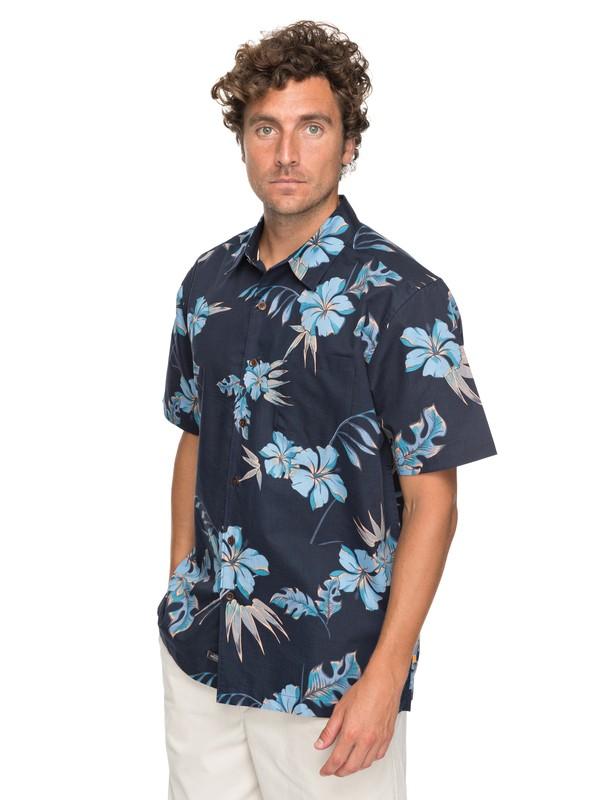 0 Waterman Monolai Short Sleeve Shirt Blue EQMWT03113 Quiksilver