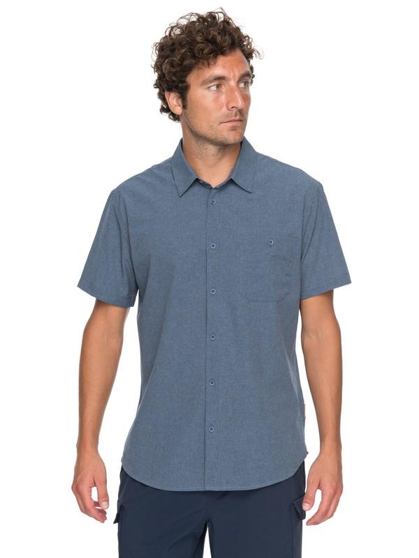 0 Waterman Technical Short Sleeve Shirt Blue EQMWT03128 Quiksilver