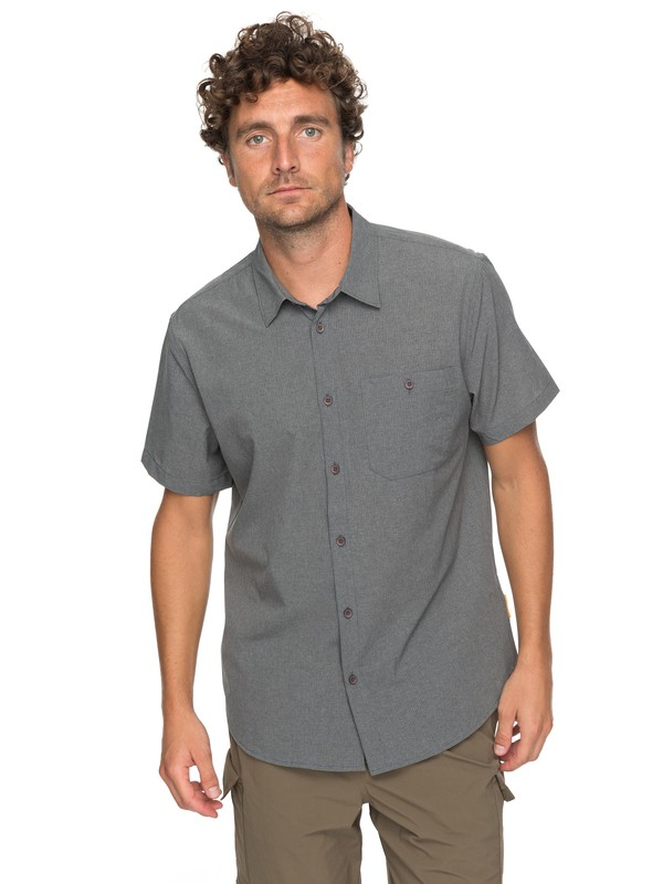 0 Waterman Technical Short Sleeve Shirt Black EQMWT03128 Quiksilver