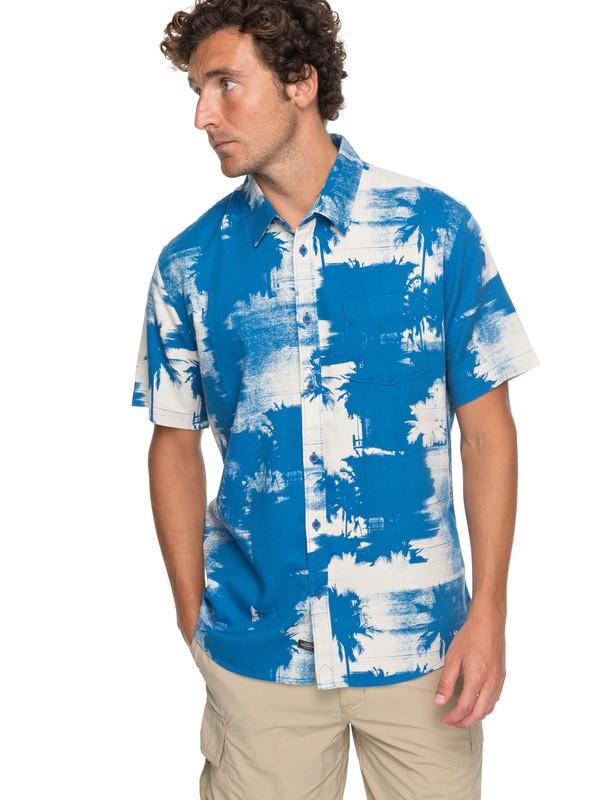 0 Waterman Paokalani Palms - Chemise technique manches courtes Bleu EQMWT03130 Quiksilver