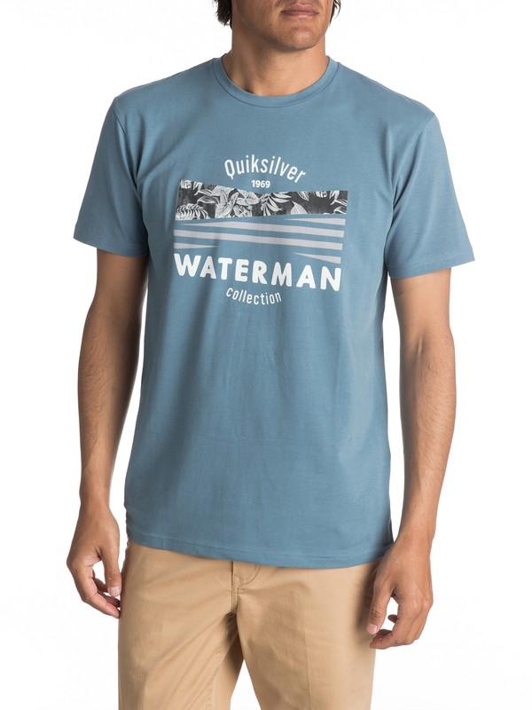0 Waterman Point Logo - T Shirt col rond  EQMZT03020 Quiksilver