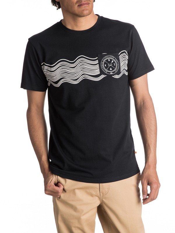 0 Waterman Sonic Waves - T Shirt col rond  EQMZT03021 Quiksilver
