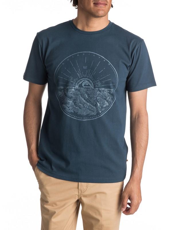 0 Waterman Mountain Sunshine - T Shirt col rond  EQMZT03022 Quiksilver