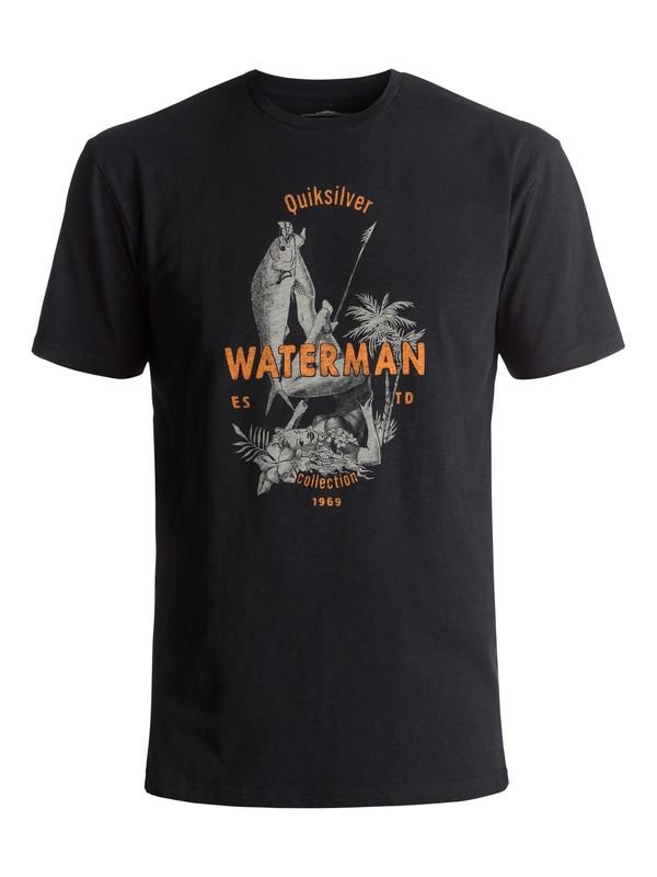 0 Waterman Wife Goals - T Shirt col rond Noir EQMZT03023 Quiksilver