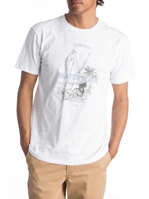 0 Waterman Wife Goals - T Shirt col rond Blanc EQMZT03023 Quiksilver