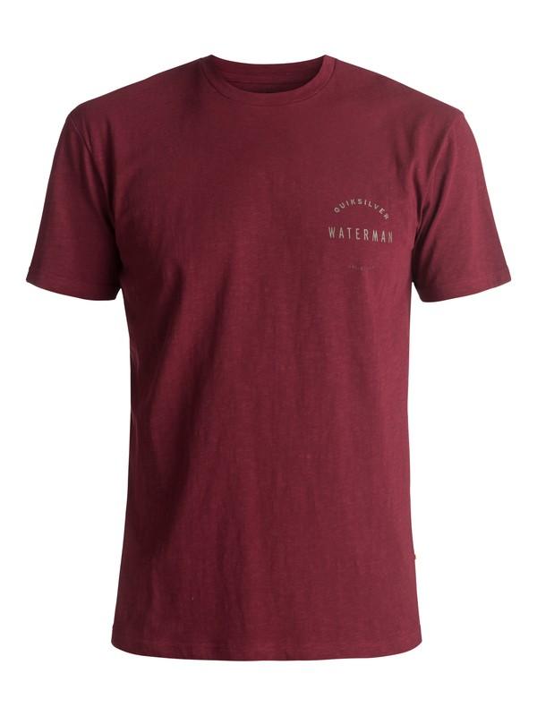 0 Waterman Water Defined - T Shirt Rouge EQMZT03024 Quiksilver