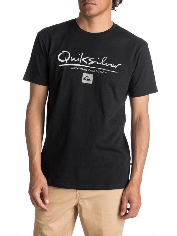 0 Waterman Gut Check - Maglietta Black EQMZT03040 Quiksilver