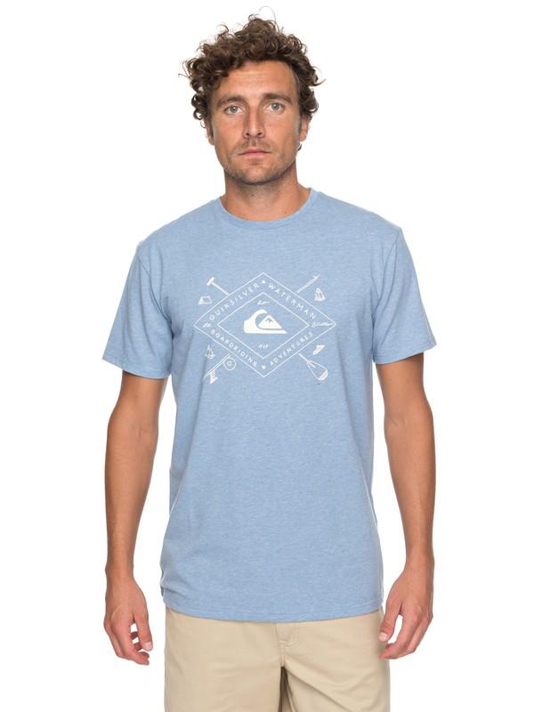 0 Waterman Sandhill Peaks Performance - T Shirt col rond Bleu EQMZT03067 Quiksilver