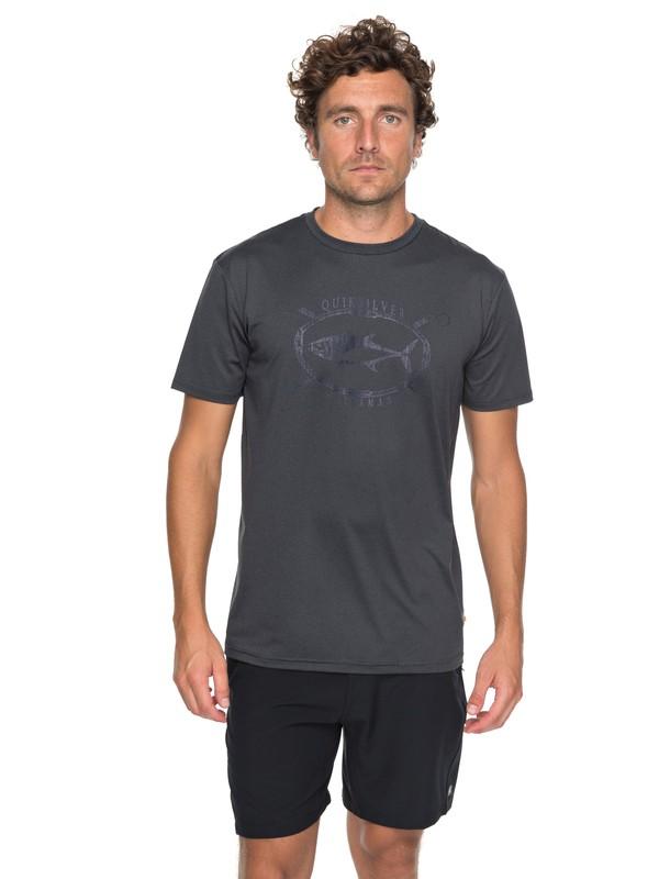 0 Waterman Thunnus Performance - Technical T-Shirt Blue EQMZT03068 Quiksilver