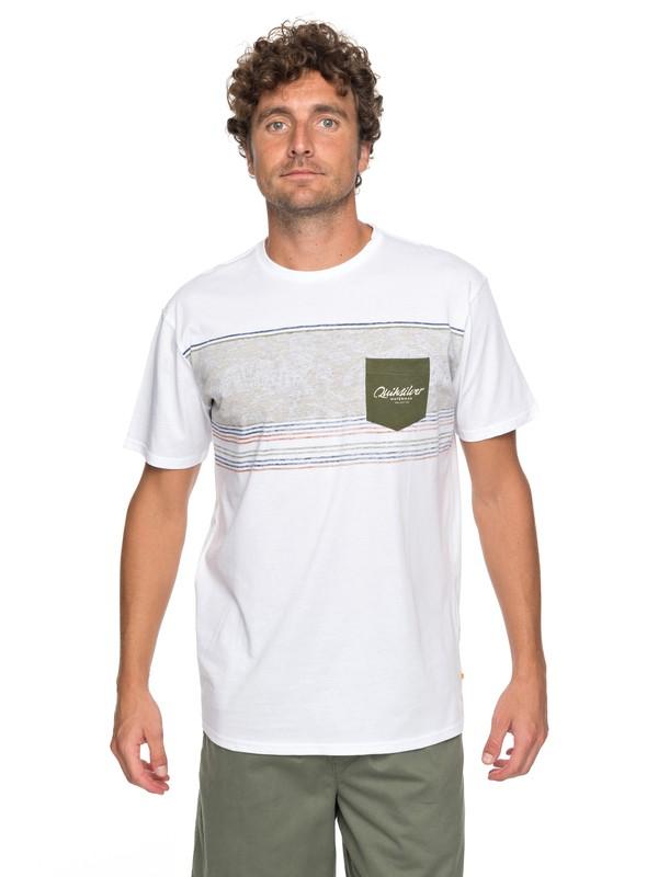 0 Waterman Dream Stringer - Pocket T-Shirt White EQMZT03071 Quiksilver