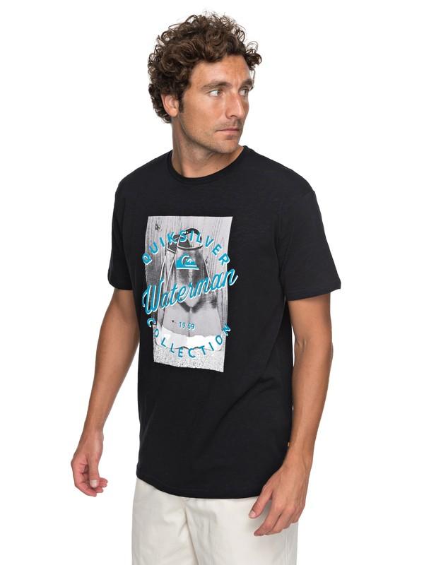 0 Waterman Da Water - T Shirt col rond Noir EQMZT03073 Quiksilver