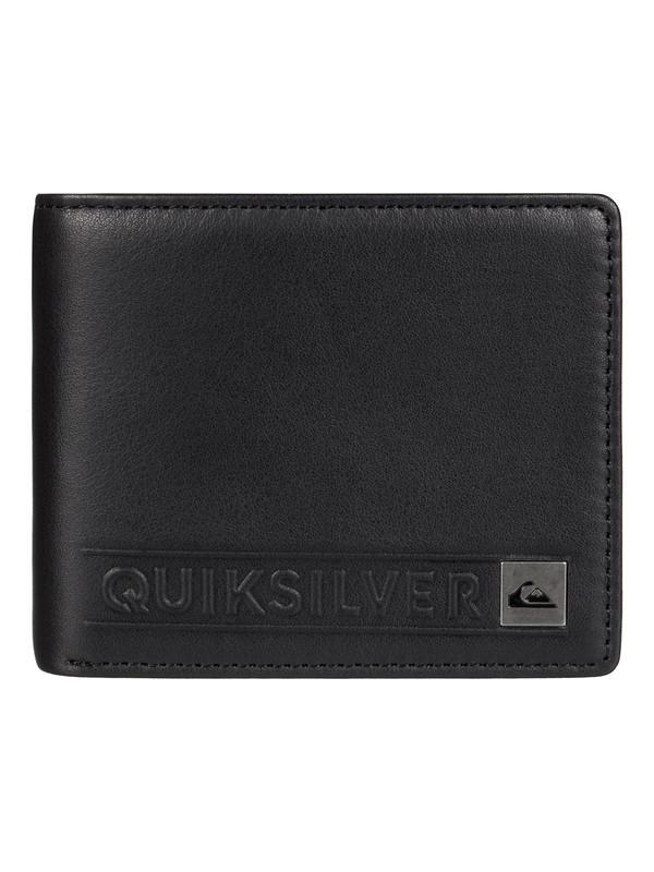 0 Mack - Portefeuille en cuir Noir EQYAA03312 Quiksilver