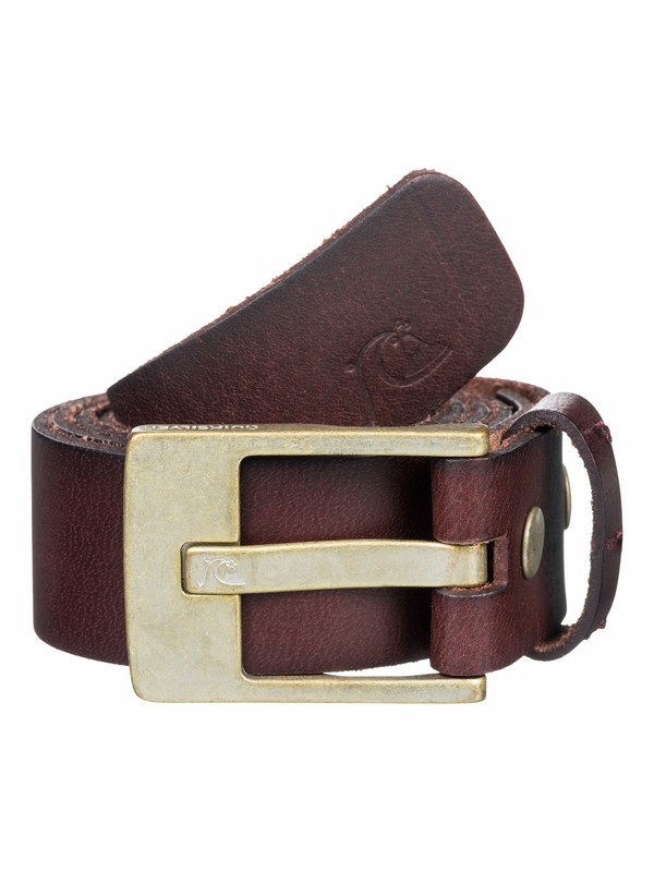 0 Section Leather Belt  EQYAA03347 Quiksilver