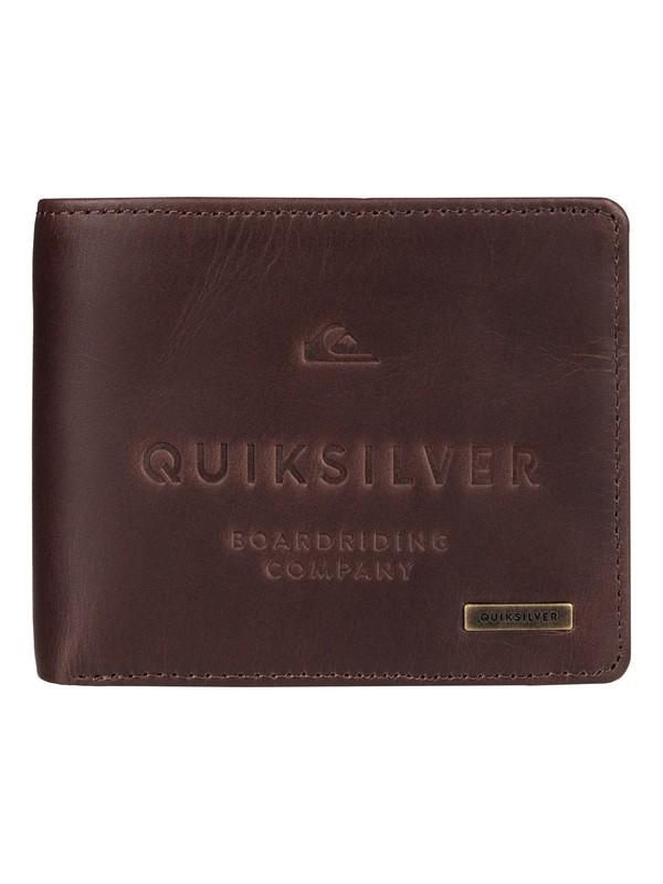 0 Mack - Portefeuille en cuir Marron EQYAA03398 Quiksilver