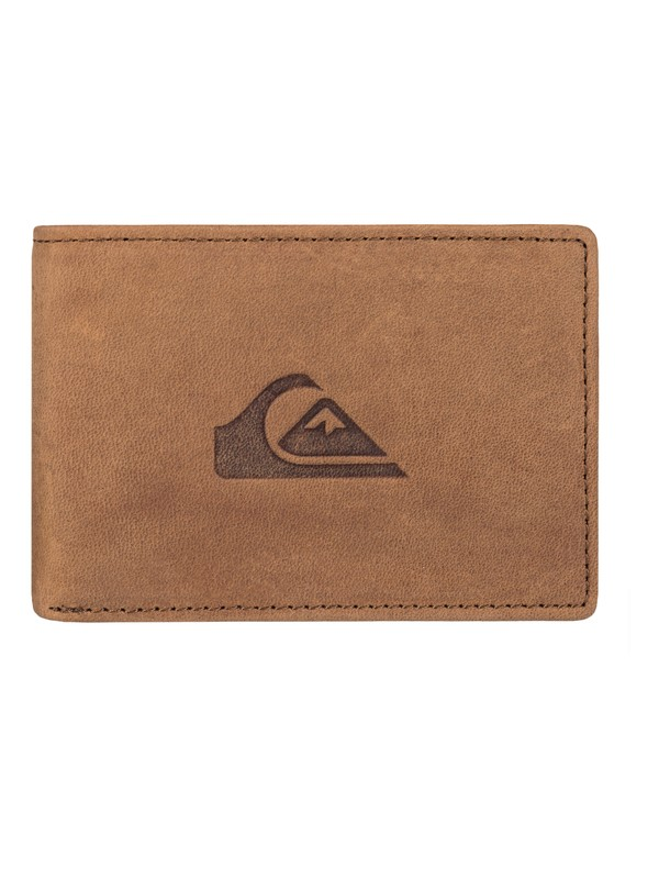 0 Foldable Leather Card Holder Wallet  EQYAA03446 Quiksilver