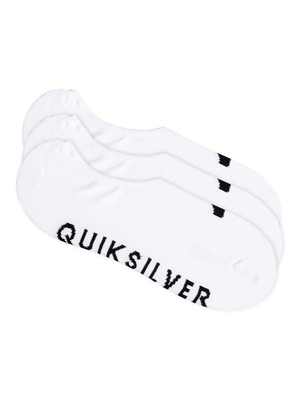0 No Show - Pack de 3 — Chaussettes invisibles Blanc EQYAA03484 Quiksilver
