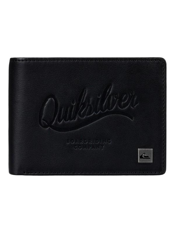 0 Mack - Portefeuille en cuir Noir EQYAA03522 Quiksilver