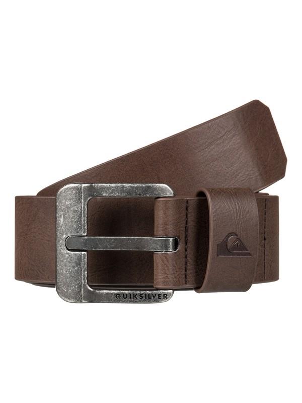 0 Main Street Faux-Leather Belt Brown EQYAA03558 Quiksilver