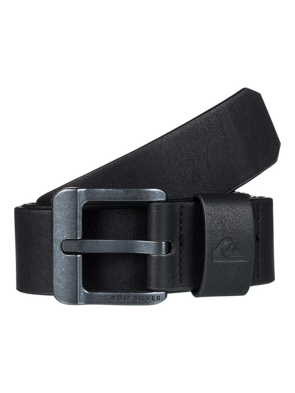 0 Main Street Faux-Leather Belt Black EQYAA03558 Quiksilver