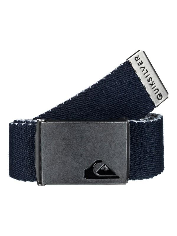 0 The Jam Reversible Webbing Belt Blue EQYAA03560 Quiksilver