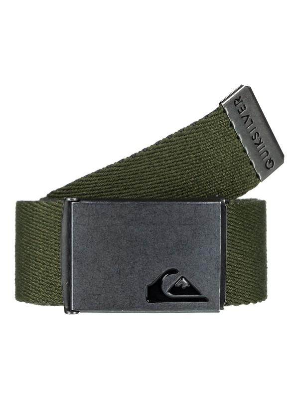 0 The Jam Reversible Webbing Belt Green EQYAA03560 Quiksilver