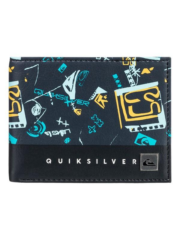 0 Men's Freshness Bi-Fold Wallet Blue EQYAA03561 Quiksilver
