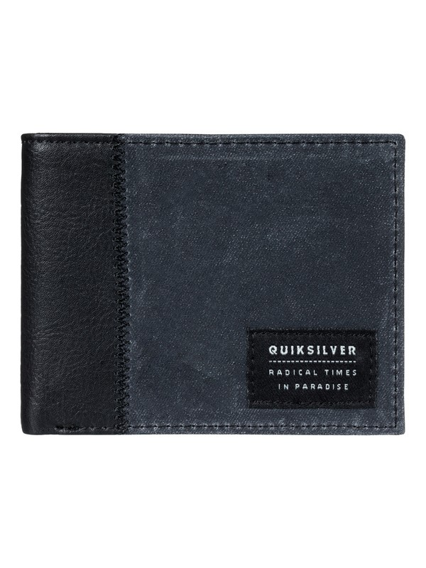 0 Men's Freshness Plus Tri-Fold Wallet Black EQYAA03605 Quiksilver