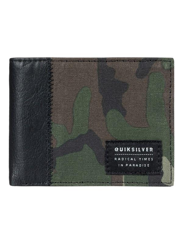 0 Men's Freshness Plus Tri-Fold Wallet Beige EQYAA03605 Quiksilver