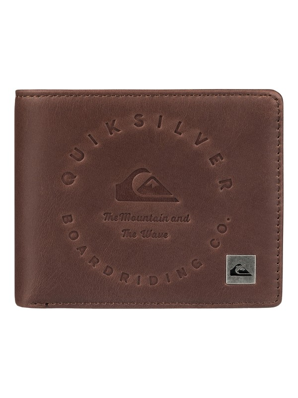 0 Men's Mack III Tri-Fold Wallet Brown EQYAA03607 Quiksilver
