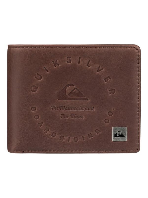 0 Men's Mack III Tri-Fold Wallet Brown EQYAA03607 Quiksilver