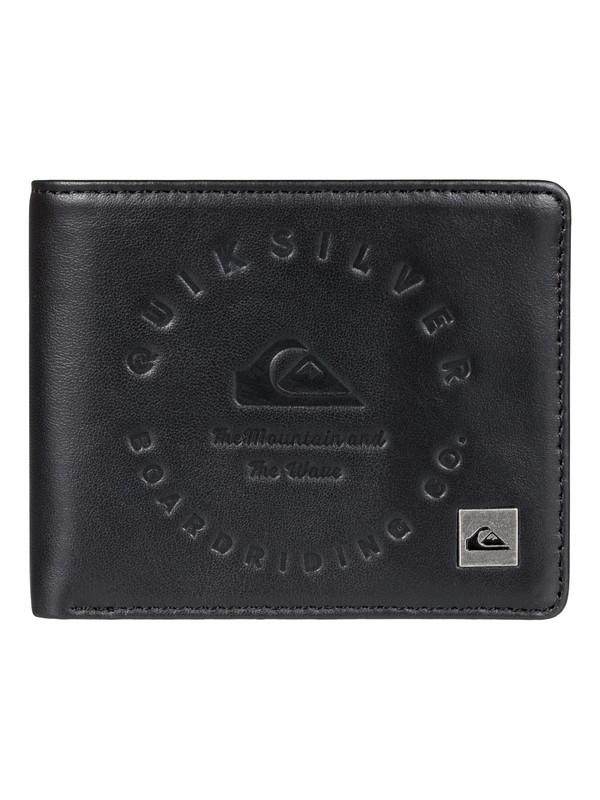 0 Men's Mack III Tri-Fold Wallet Black EQYAA03607 Quiksilver