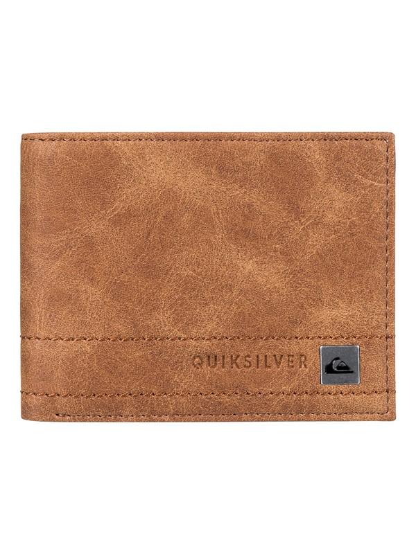 0 Stitchy - portefeuille à deux volets Marron EQYAA03636 Quiksilver