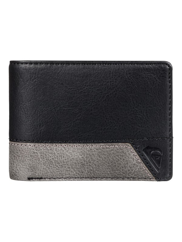 0 Men's Supply Slim II Bi-Fold Wallet Black EQYAA03651 Quiksilver