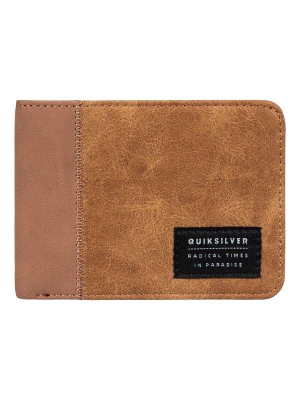 0 Men's Slim Vintage Plus Bi-Fold Wallet Brown EQYAA03653 Quiksilver