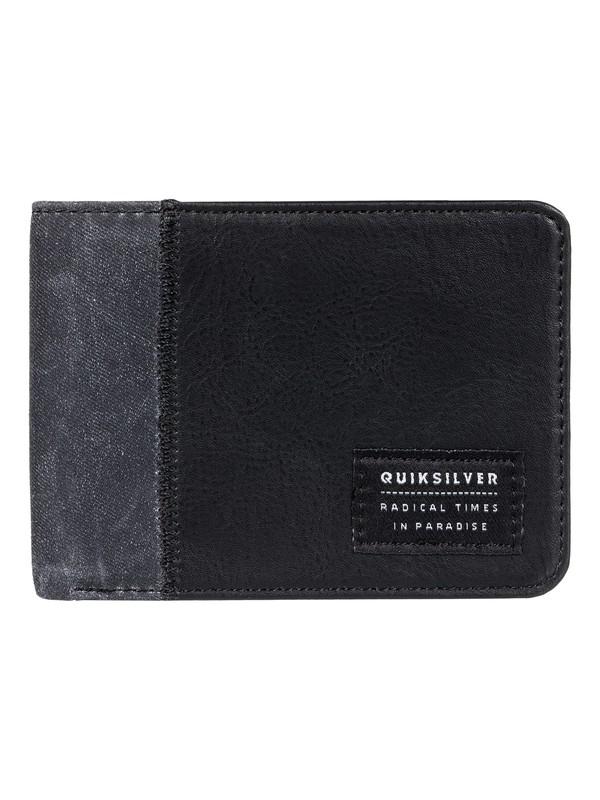 0 Men's Slim Vintage Plus Bi-Fold Wallet Black EQYAA03653 Quiksilver