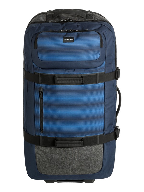 0 Reach 110L Large Wheeled Suitcase Blue EQYBL03099 Quiksilver