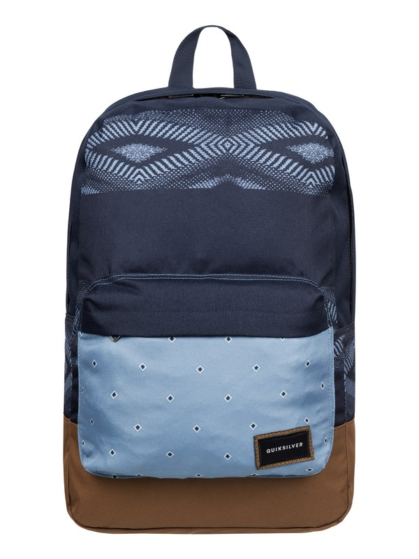 0 Night Track Print - Medium Backpack Blue EQYBP03278 Quiksilver