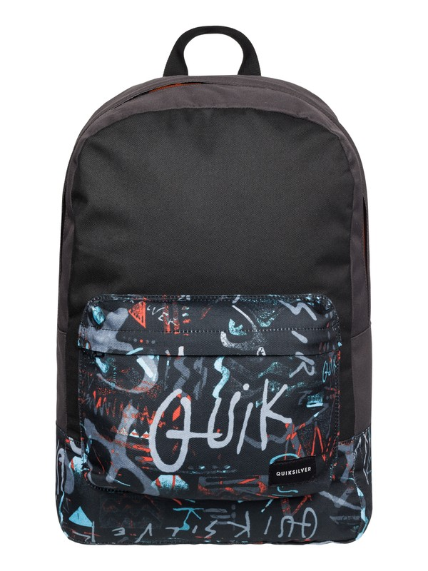 0 Night Track Print - Medium Backpack Black EQYBP03278 Quiksilver