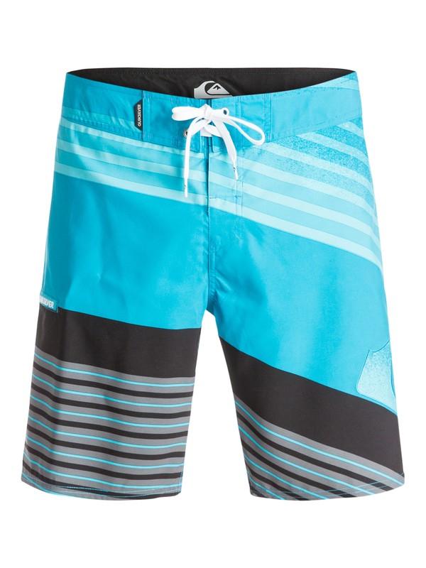 "0 Incline Logo 19"" - Boardshort Bleu EQYBS03238 Quiksilver"