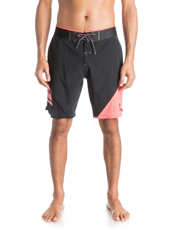 "0 New Wave High 19"" - Boardshort Noir EQYBS03249 Quiksilver"