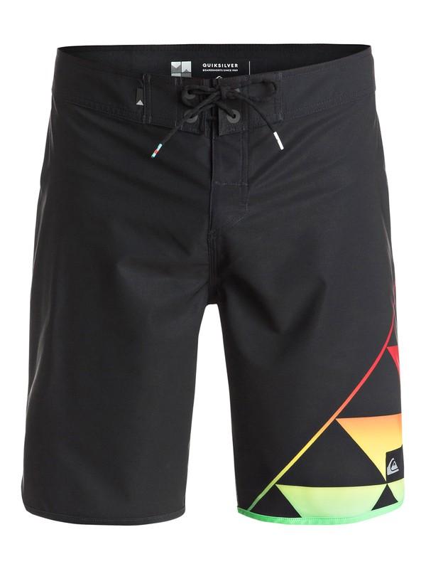 "0 New Wave Eddie 20"" Boardshorts Black EQYBS03522 Quiksilver"