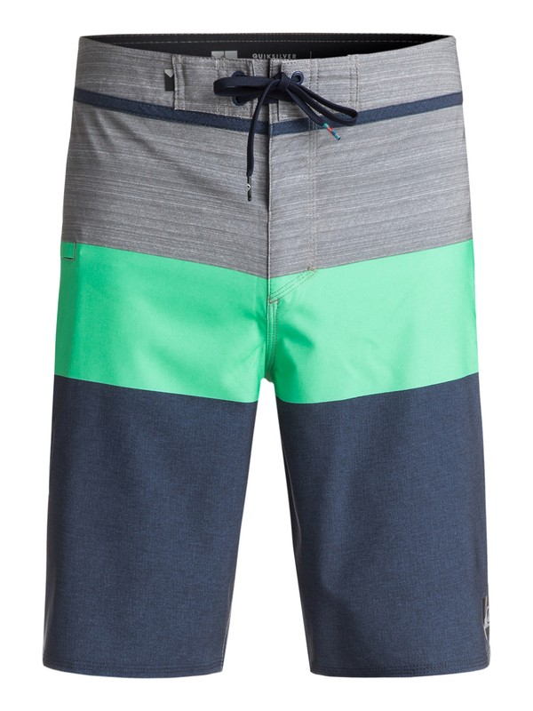 "0 Everyday Blocked Vee 20"" Boardshorts Green EQYBS03573 Quiksilver"