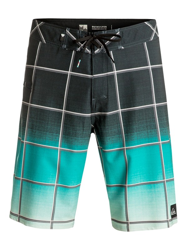 "0 Everyday Electric Vee 21"" Boardshorts Green EQYBS03574 Quiksilver"